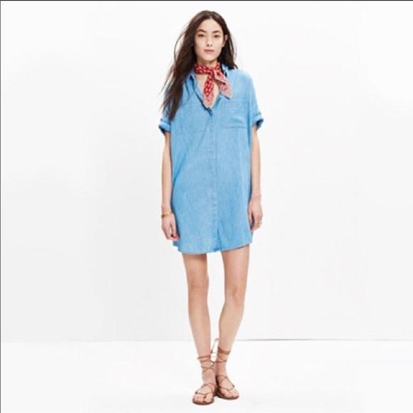242d4217fae Madewell Dresses   Skirts - Madewell Denim Courier Shirt Dress